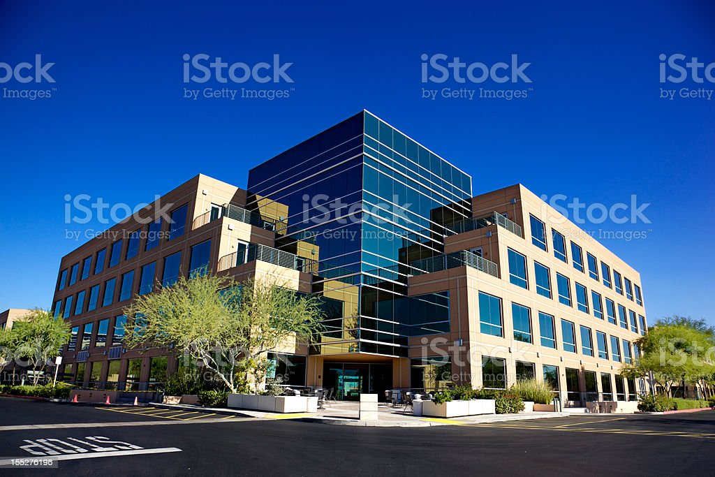 Scottsdale Business Park a Beautiful North Phoenix Office Building stock photo