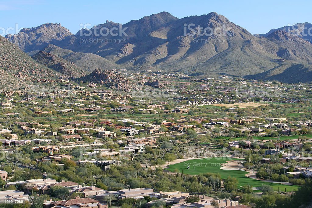 Scottsdale Golf Course Community royalty-free stock photo