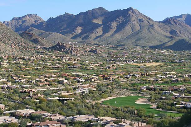 Scottsdale Golf Course Community stock photo