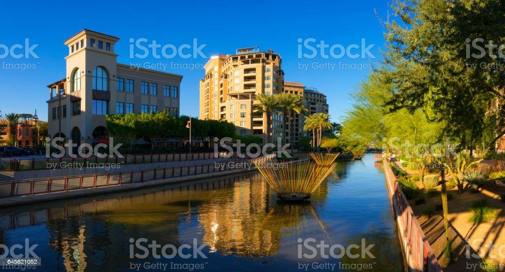 Scottsdale Waterfront stock photo