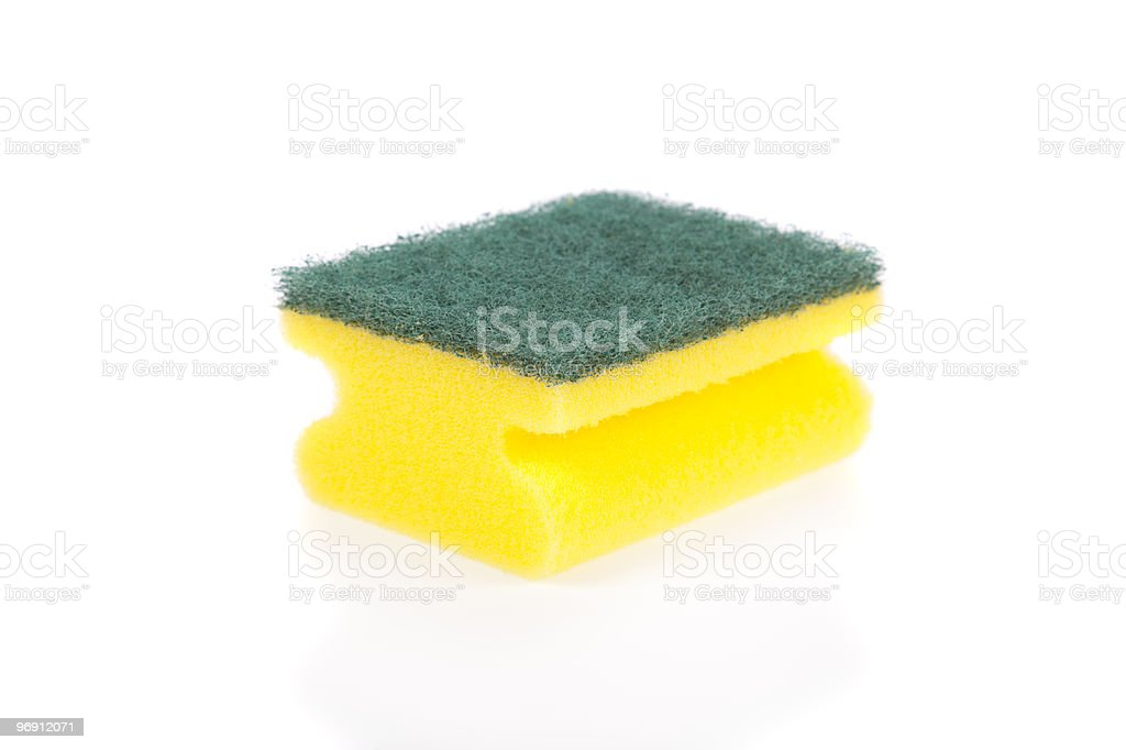 Scouring pad isolated on white background royalty-free stock photo