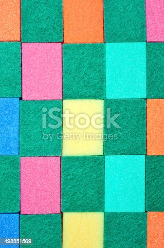istock Scouring sponges background 498851569