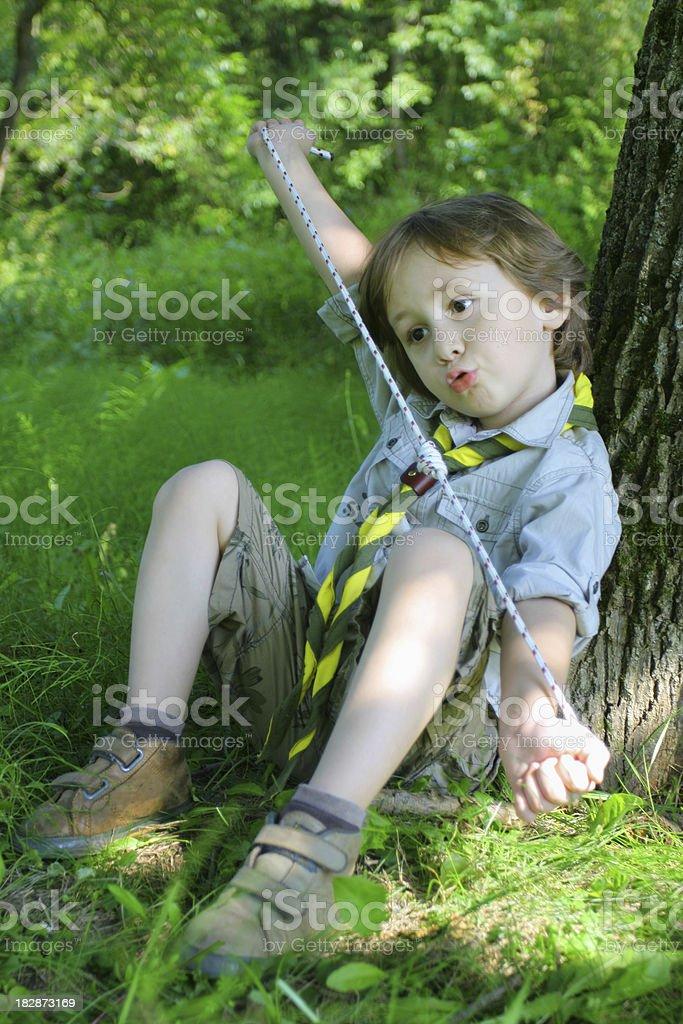 Scout boy stock photo