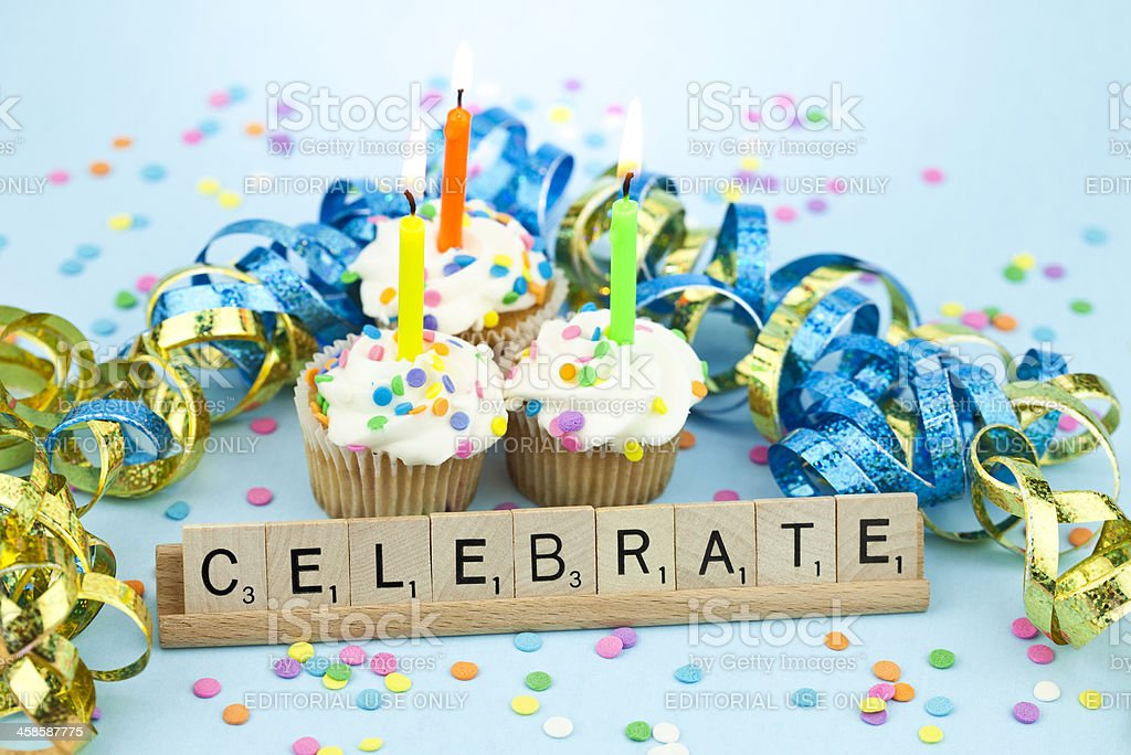 Scrabble Birthday Celebration royalty-free stock photo