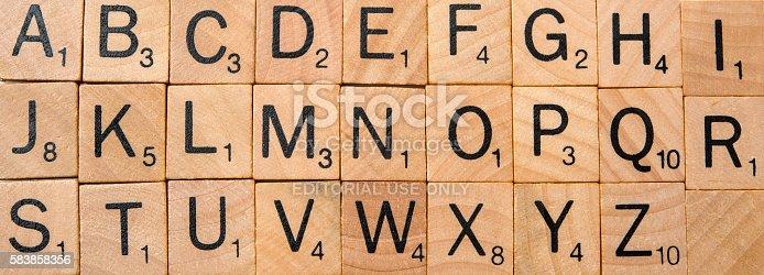 istock Scrabble complete alphabet 583858356