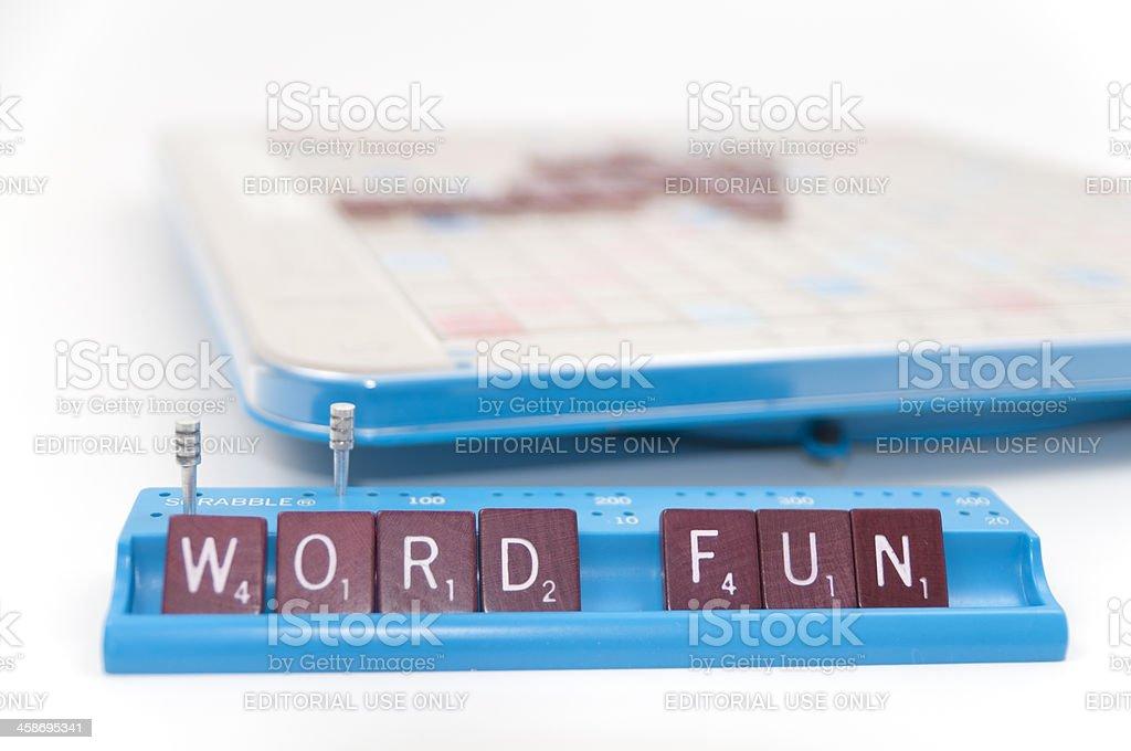 Scrabble Game is Word Fun stock photo