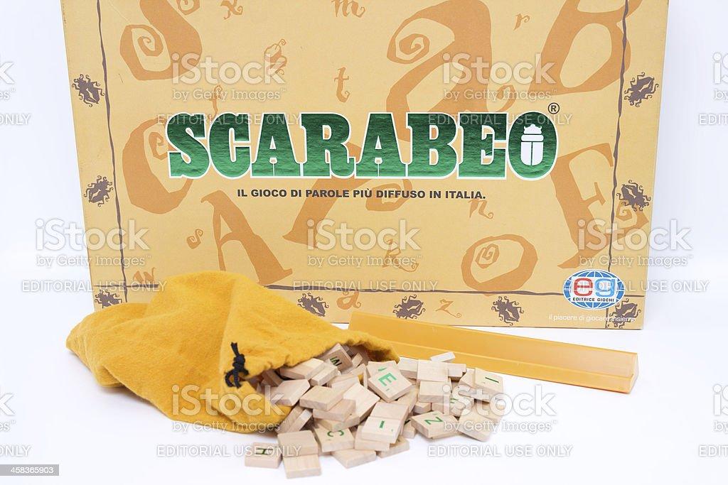 Scrabble. Italian version. royalty-free stock photo