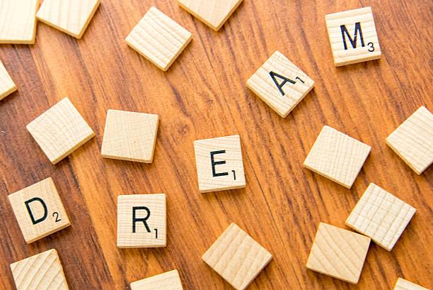 Scrabble letters - DREAM stock photo