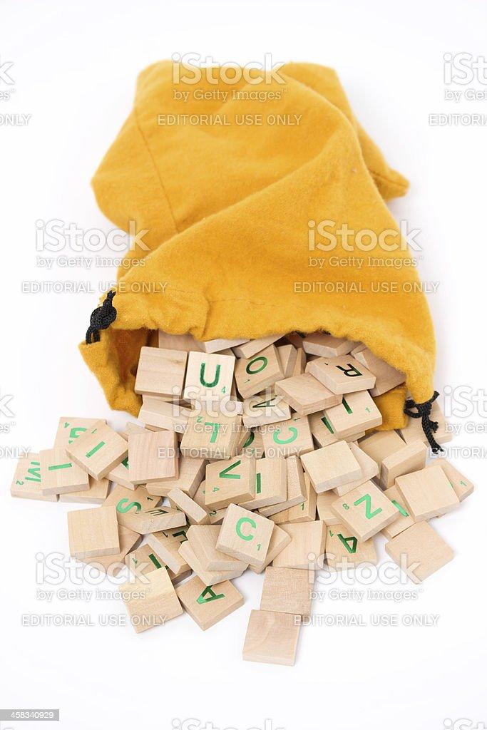 Scrabble royalty-free stock photo