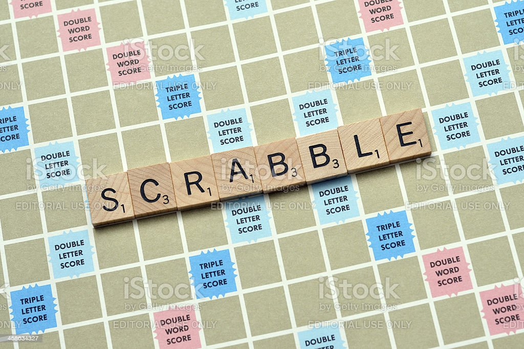 Scrabble stock photo