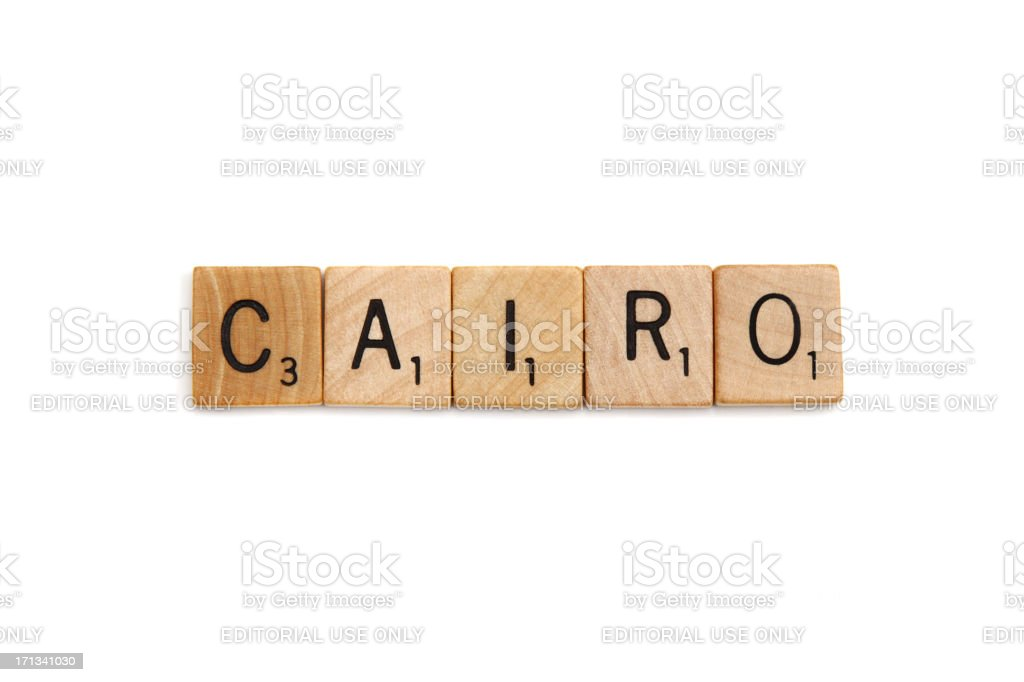Scrabble tiles spelling Cairo royalty-free stock photo