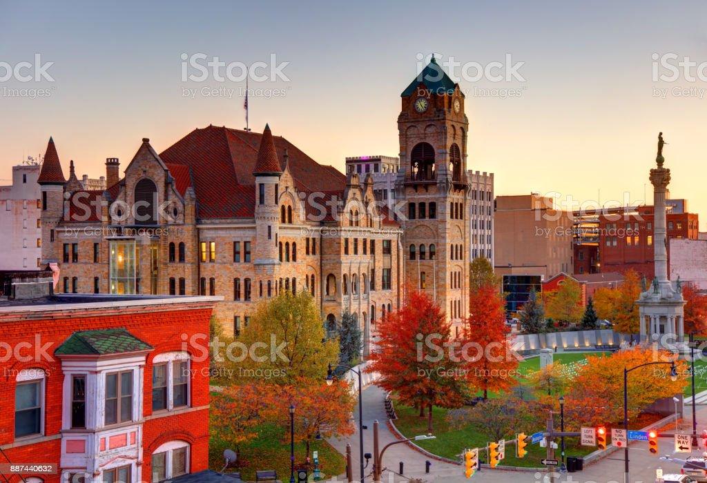 Scranton, Pennsylvania Courthouse Square stock photo