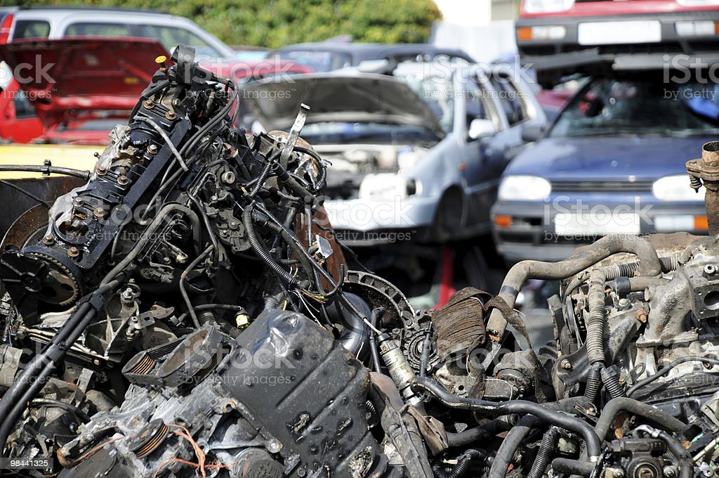 Scrap and cars royalty-free stock photo