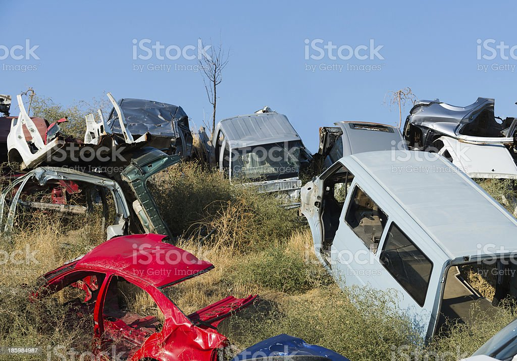 Scrap cars royalty-free stock photo