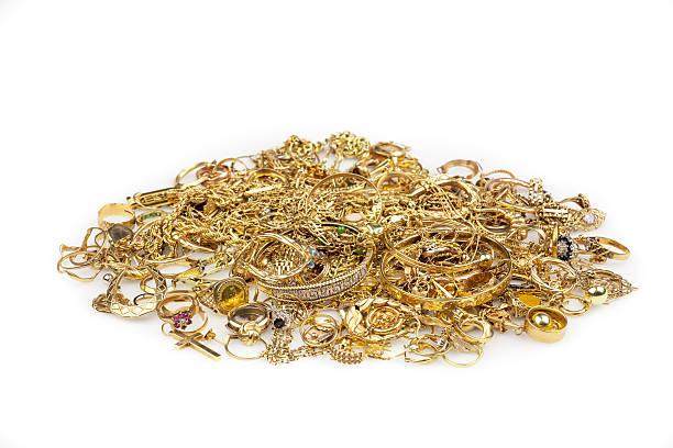 schrott-gold-kollektion - diamanten kaufen stock-fotos und bilder