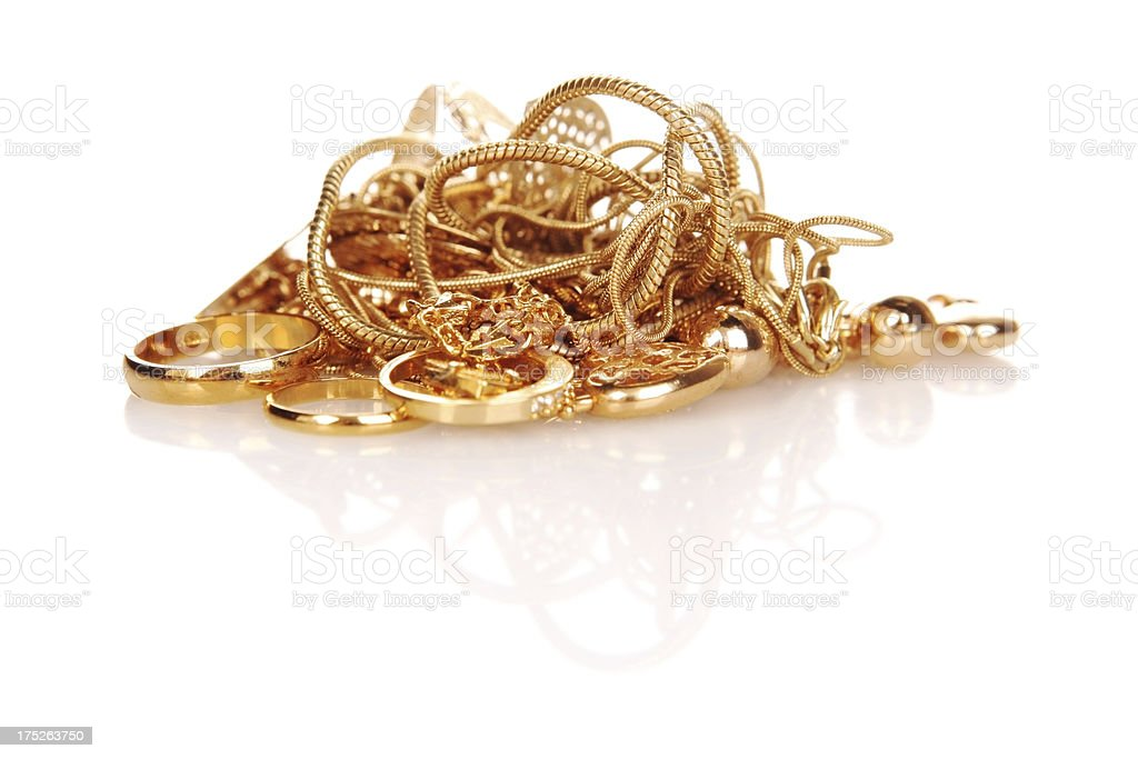 Scrap Gold Pile stock photo