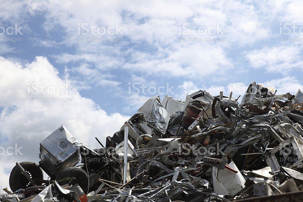 scrap heap royalty-free stock photo
