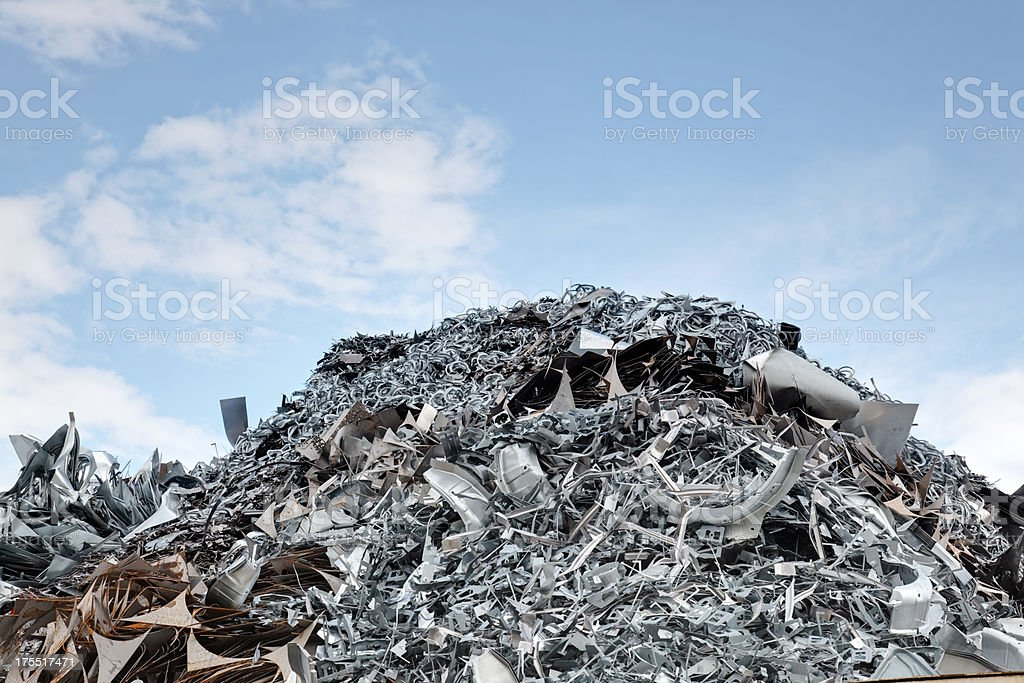 scrap heap royalty-free stock photo