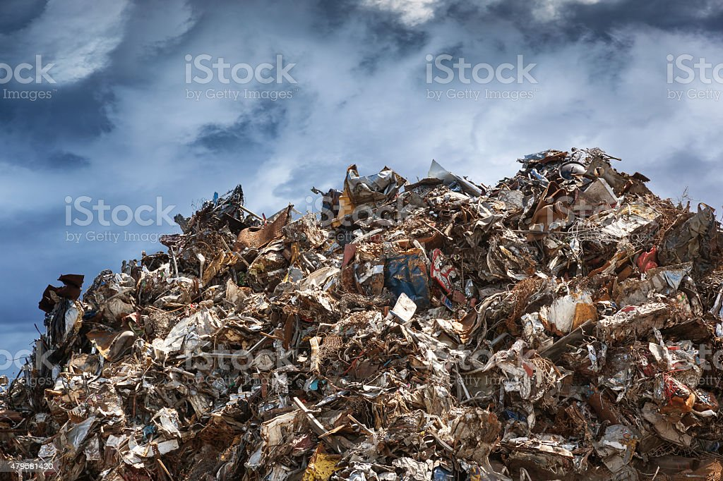 Scrap heap stock photo