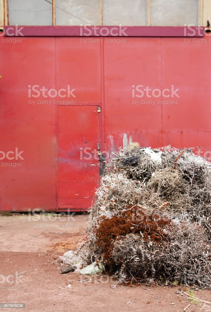 Scrap iron wallpaper or background royalty-free stock photo