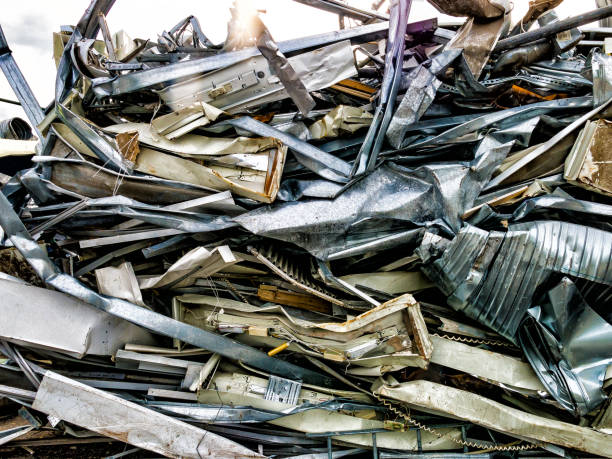 Scrap, metal and aluminium stock photo