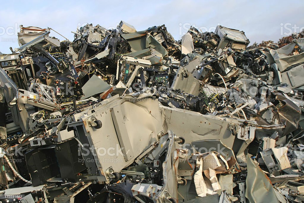 Scrap metal and iron # 2 royalty-free stock photo