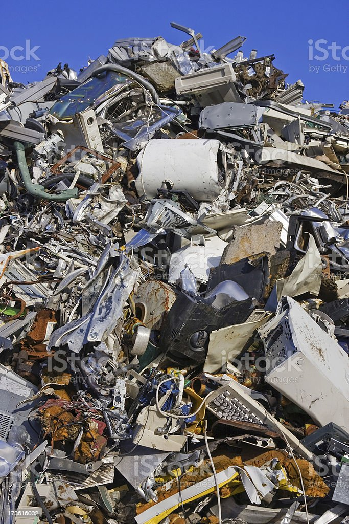 Scrap metal and iron # 22 XL royalty-free stock photo