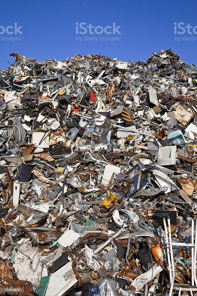 Scrap metal and iron # 30 XXL royalty-free stock photo