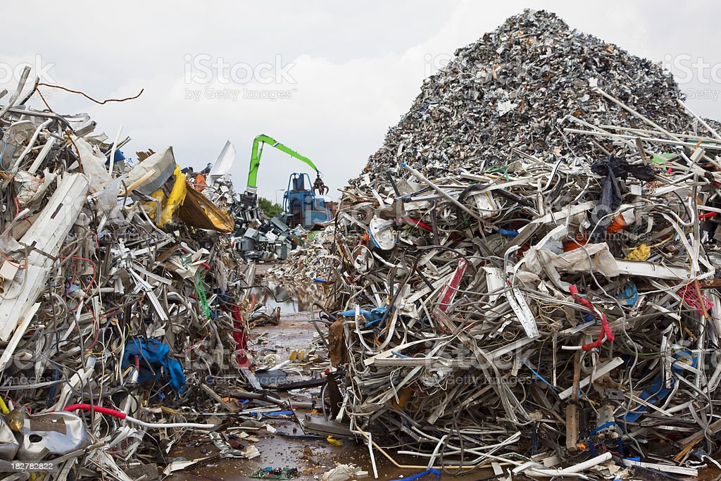 Scrap metal and iron # 43 XXXL royalty-free stock photo