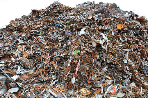 Scrap Metal And Metal Trash For Recycling In Germany Stock Photo ...