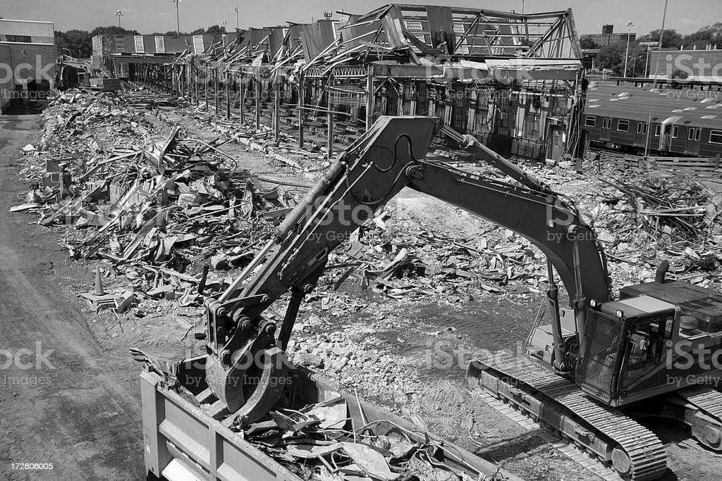 scrap metal demolition royalty-free stock photo
