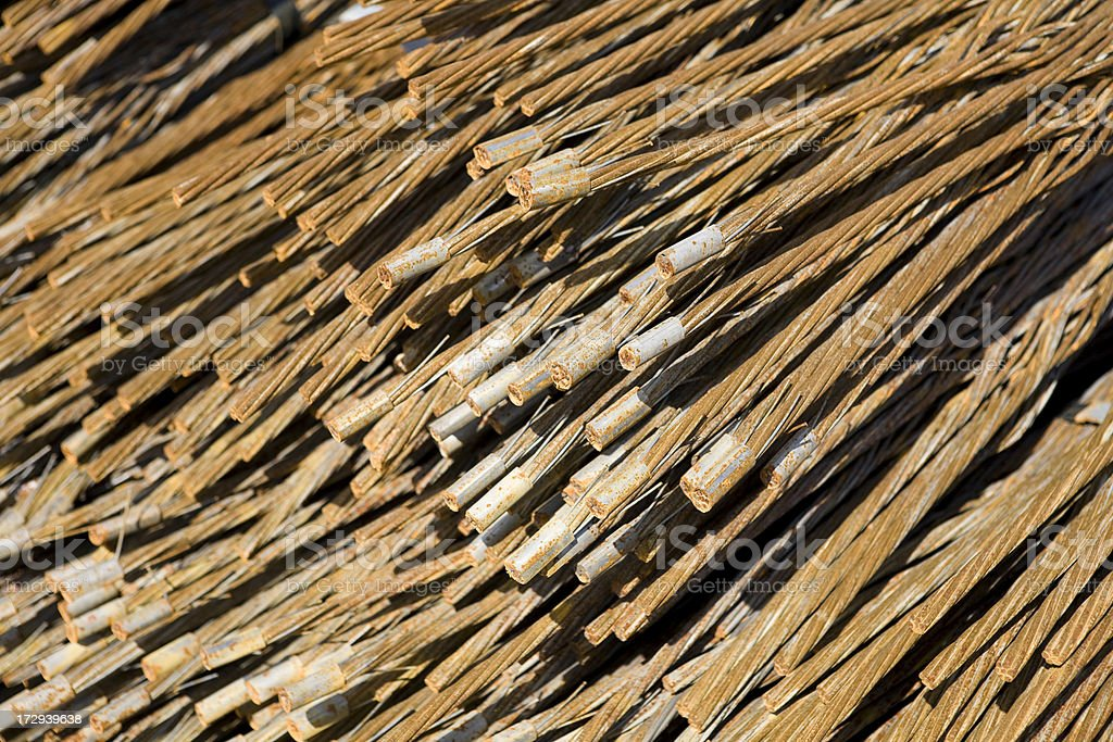 Scrap metal ends of rebar and cable royalty-free stock photo
