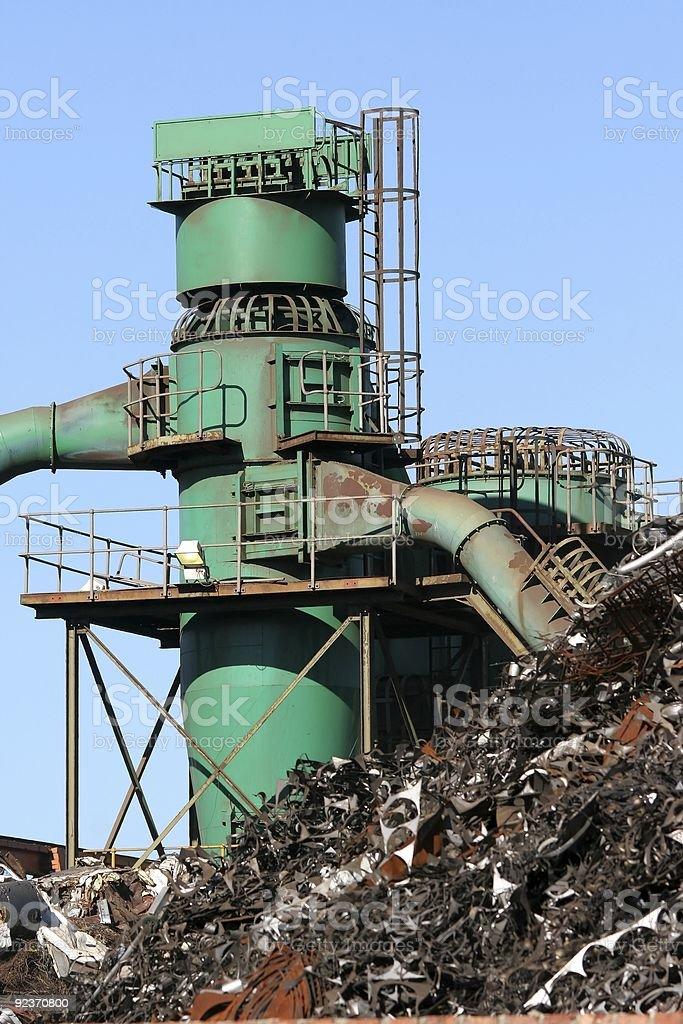 Scrap metal factory royalty-free stock photo