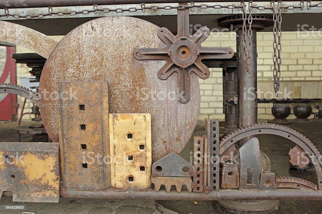 Scrap Metal Fence royalty-free stock photo