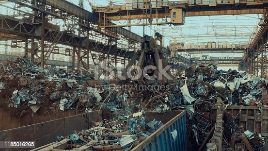 Scrap metal for recycling at a steel mill