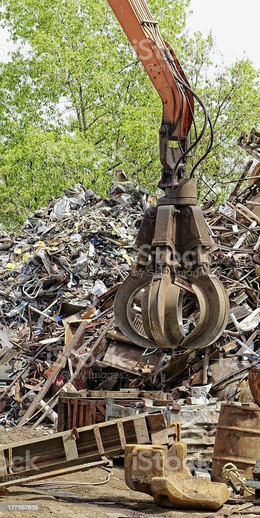 scrap metal grapple royalty-free stock photo