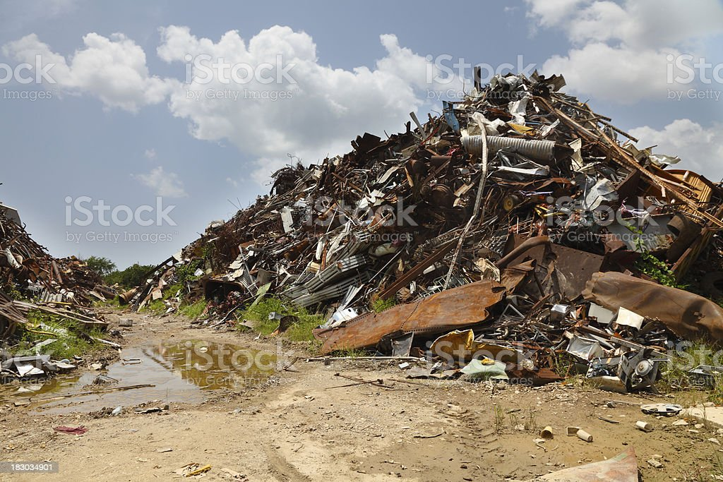 Scrap Metal Heap royalty-free stock photo