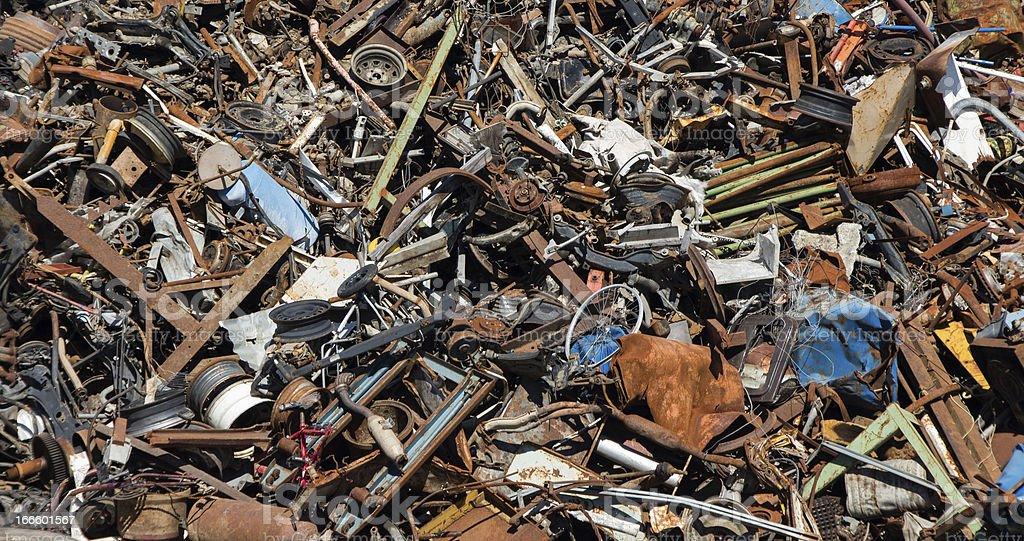 Scrap Metal Heep royalty-free stock photo