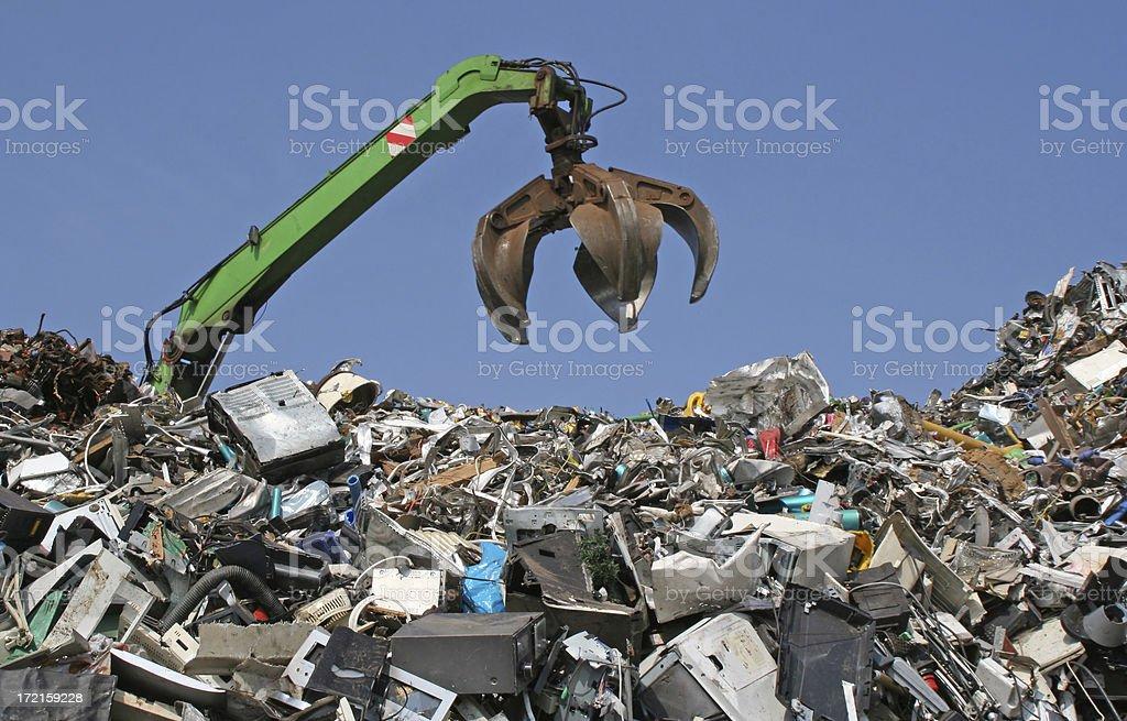Scrap metal, iron and computer dump # 9 stock photo