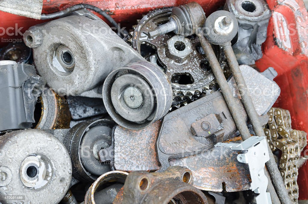 Scrap Metal Old Car Parts Stock Photo & More Pictures of 2015 | iStock