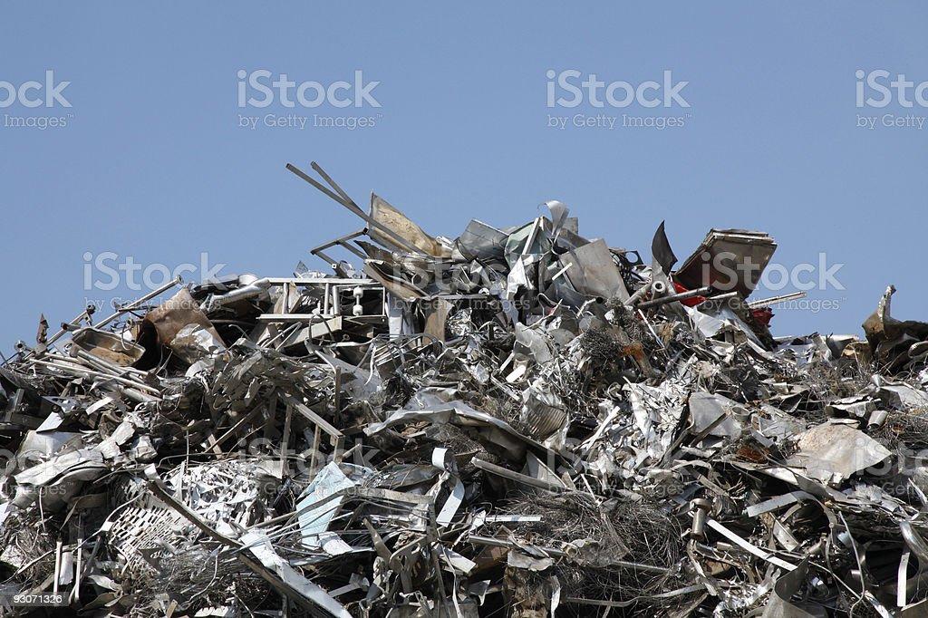 Scrap metal royalty-free stock photo