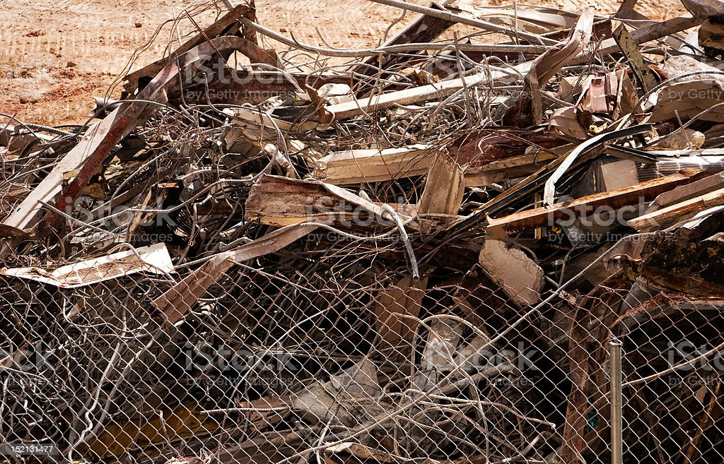 Scrap Metal Pile After Demolition royalty-free stock photo
