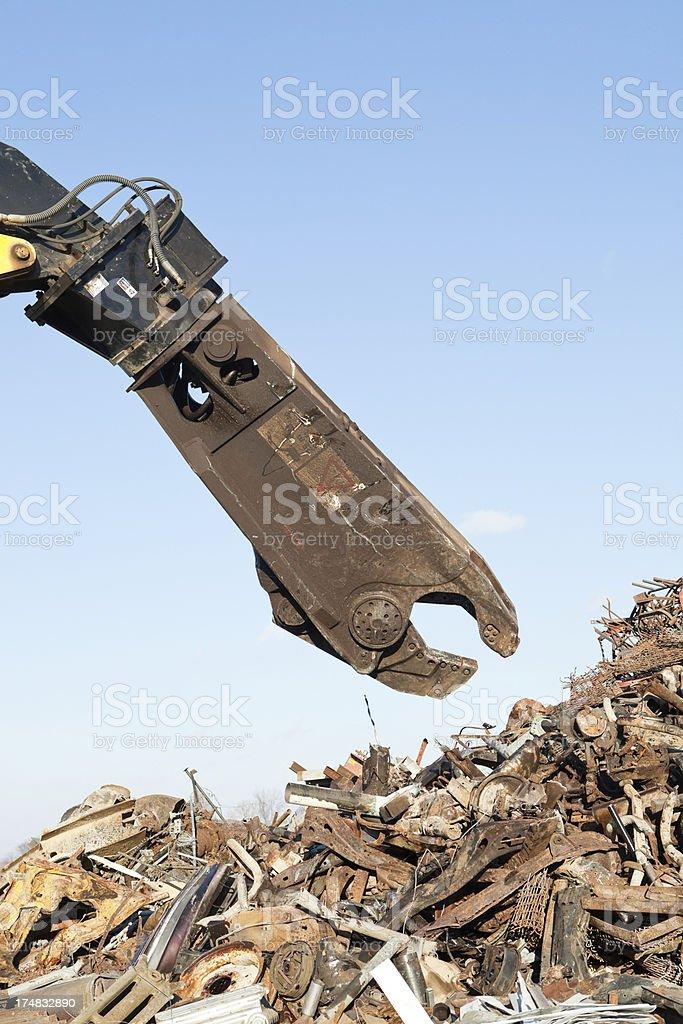 Scrap Metal Processing Shear royalty-free stock photo