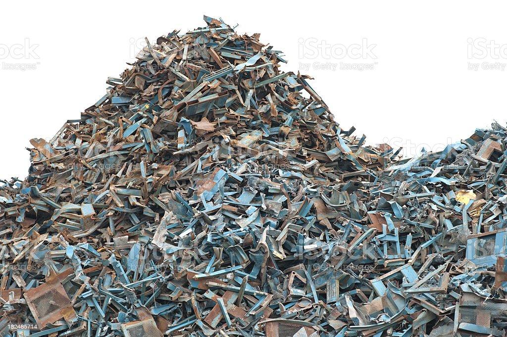 Scrap Metal Recycling royalty-free stock photo