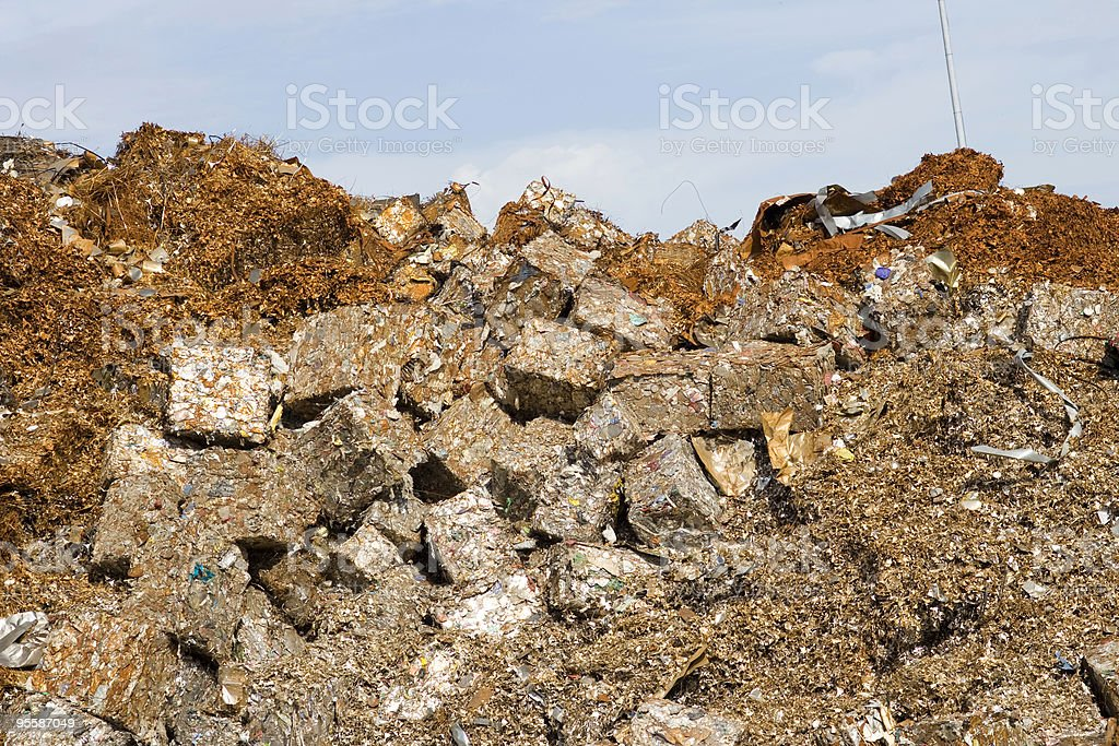 Scrap metal recycling royalty-free stock photo