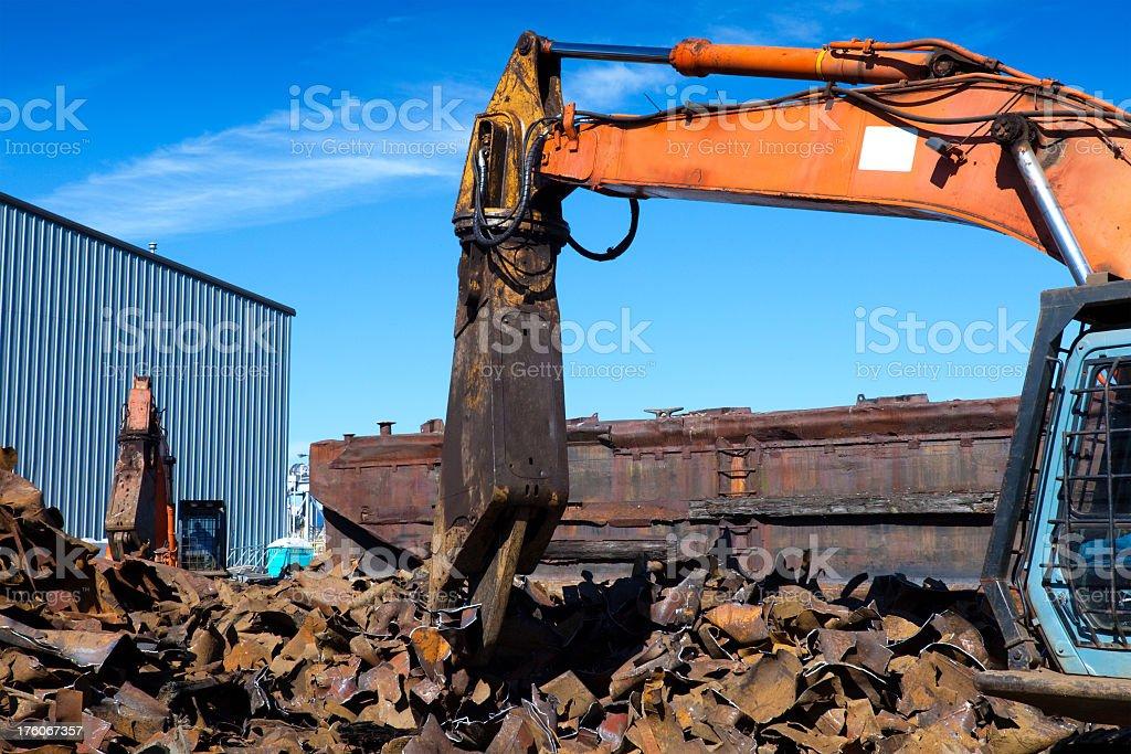 Scrap Metal Recycling Yard royalty-free stock photo