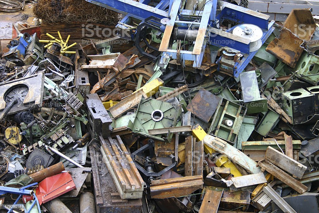 Scrap metal yard - 3 royalty-free stock photo