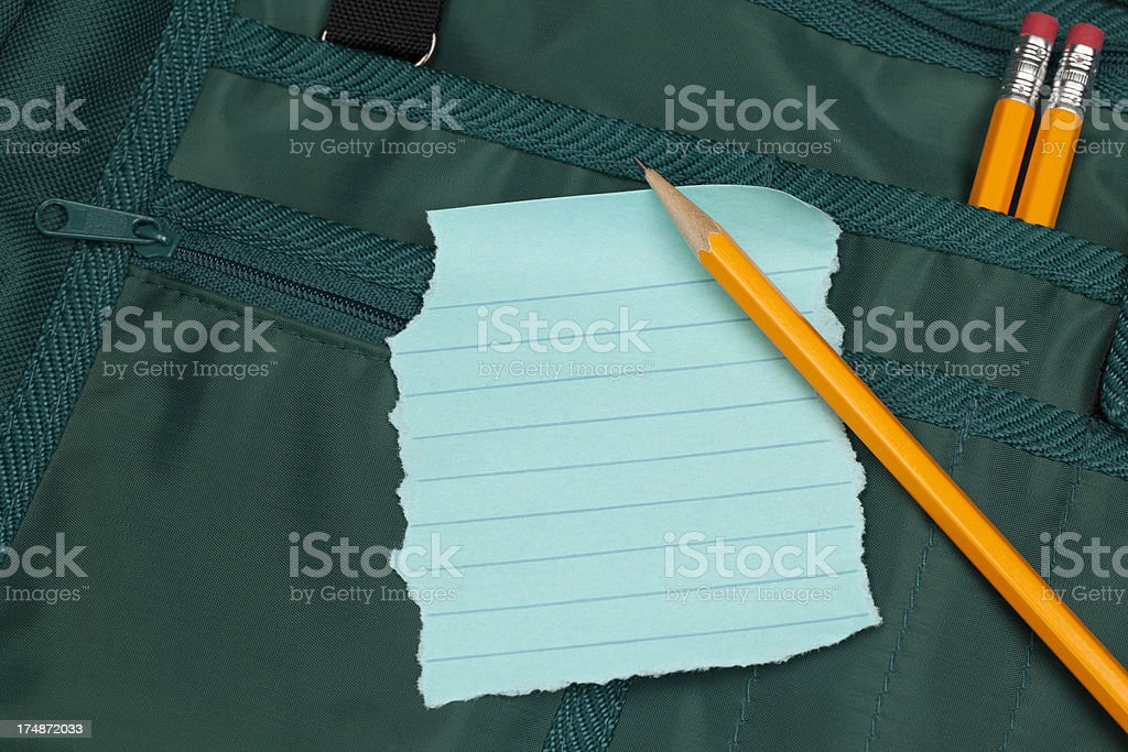 Scrap paper and Pencil royalty-free stock photo