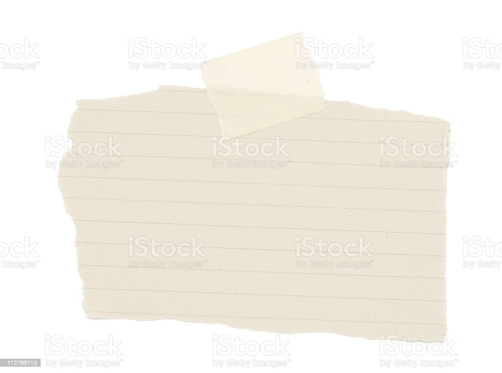 Scrap Paper royalty-free stock photo