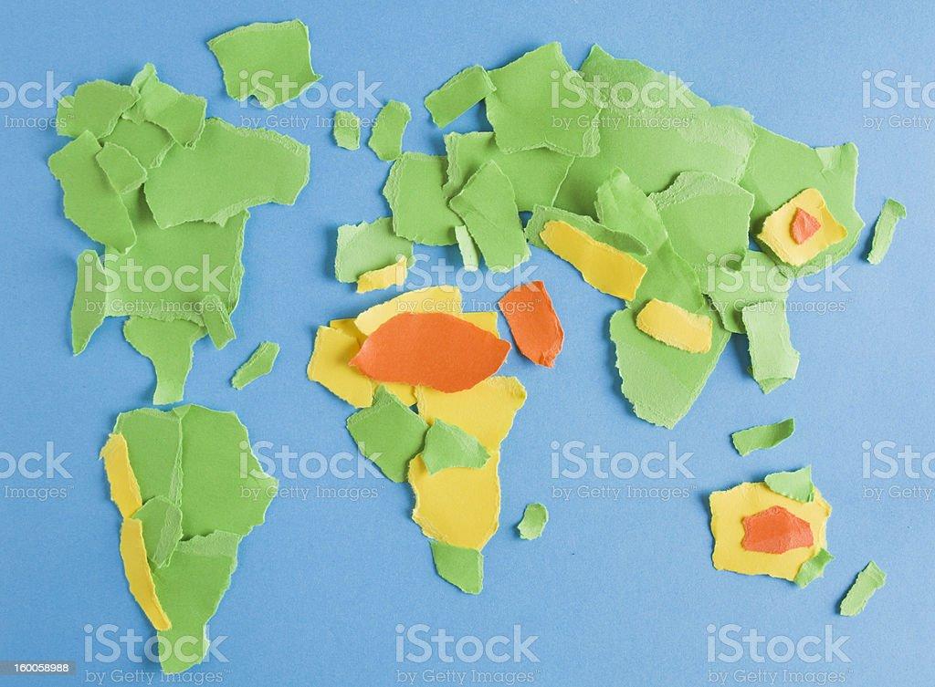 Scrap Paper World royalty-free stock photo